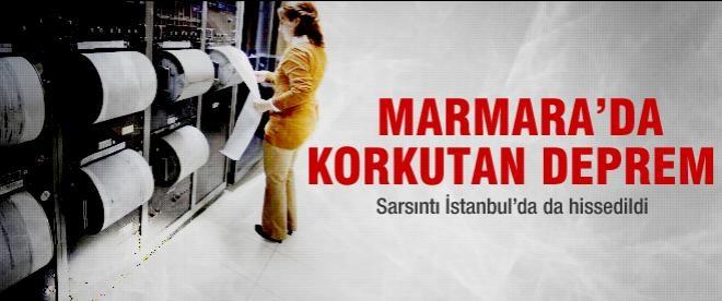 Marmara Denizi'nde 4.7 şiddetinde deprem