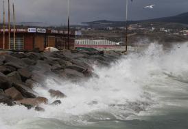 Silivri'de şiddetli fırtına