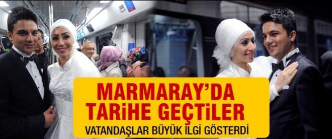 Marmaray'da tarihe geçtiler