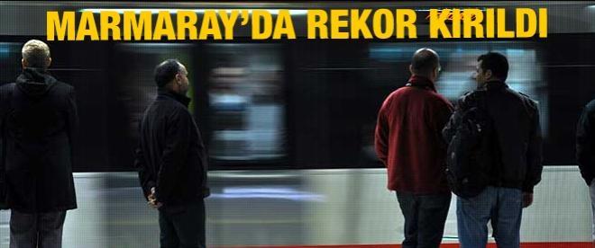 Marmaray'da rekor kırıldı
