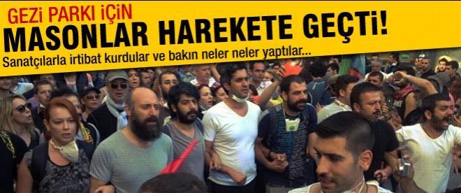 Masonlar Gezi Parkı için harekete geçti!