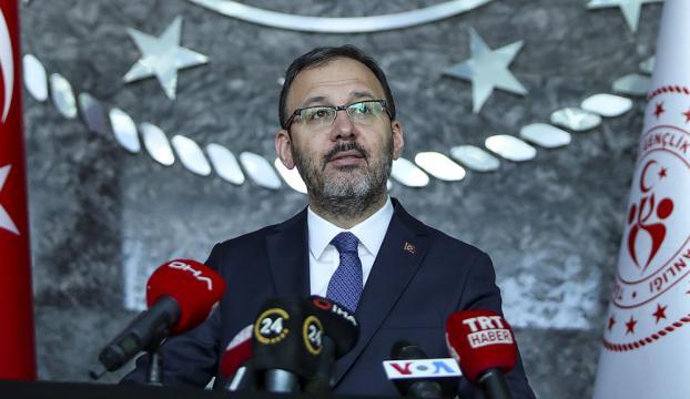 Gençlik ve Spor Bakanı Kasapoğlu: Sona eren karantina sürecinde 77 bin 441 kişiye ev sahipliği yaptık