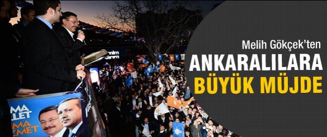 Gökçek'ten Ankaralılara büyük müjde