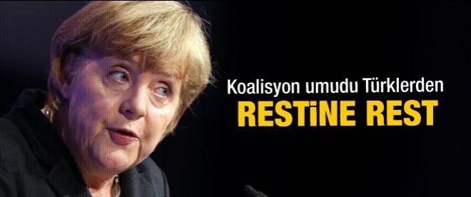 Merkel Türkler olmadan hükümet kuramayacak