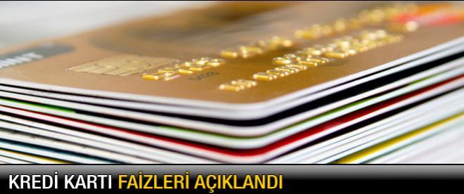 Merkez kredi kartı faiz oranlarını açıkladı