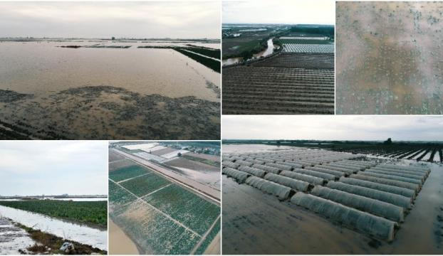 Mersinde şiddetli yağış bir çok yerde hasara neden oldu