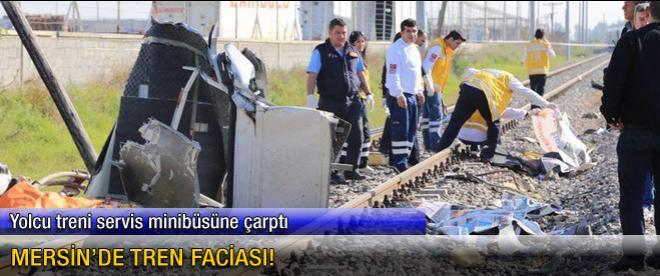 Mersin'de tren kazası: En az 9 ölü