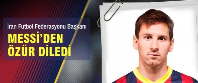 Messi'den özür diledi