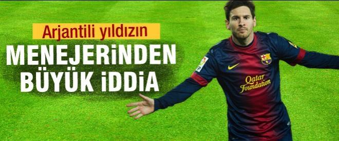 Messi'nin menajerinden büyük iddia