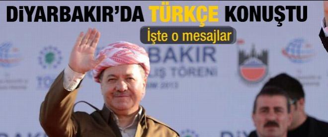 Barzani Diyarbakır'da Türkçe konuştu