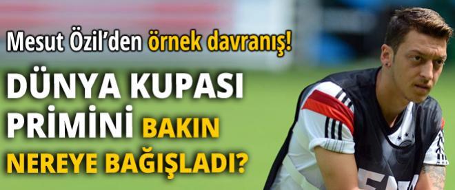 Mesut Özil'den büyük jesti!