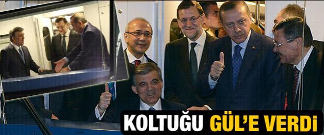Başbakan Metro koltuğunu Gül'e bıraktı