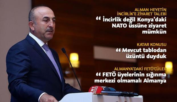 Dışişleri Bakanı Çavuşoğlu: Katar ile ilgili mevcut tablodan üzüntü duyduk