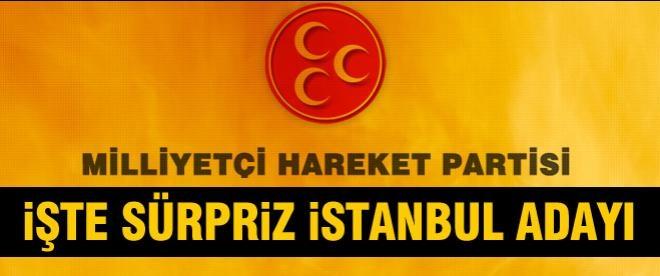 MHP'den sürpriz İstanbul adayı