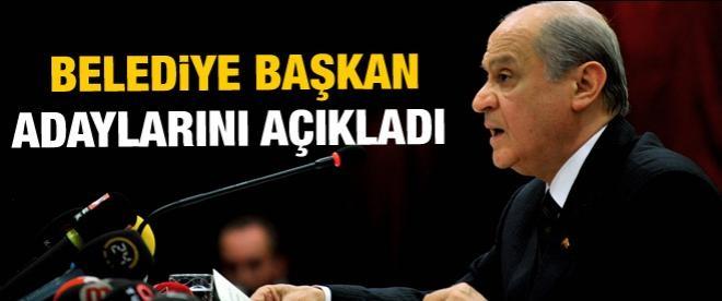MHP'nin başkan adayları belli oldu