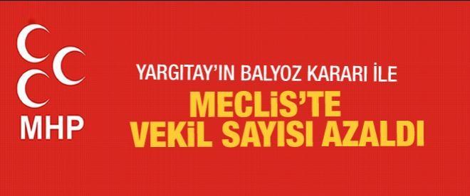 MHP'de bir sandaye eksildi