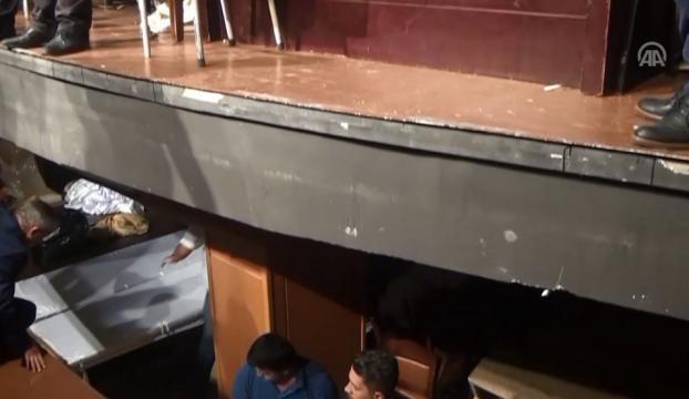 MHPde kongrede oylar sayılırken sahne çöktü