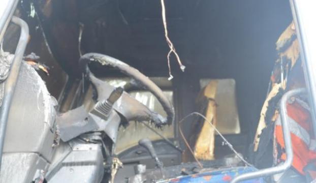 MHPli başkanın kamyonu yakıldı