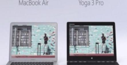 testMacBook Air'e karşı Yoga 3 Pro'yu öneriyor