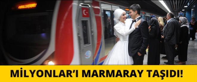 Marmaray, milyonları taşıdı!