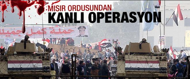 Mısır ordusundan kanlı operasyon