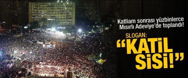 """Mısır'da yüzbinler sokakta: """"Katil Sisi!"""""""