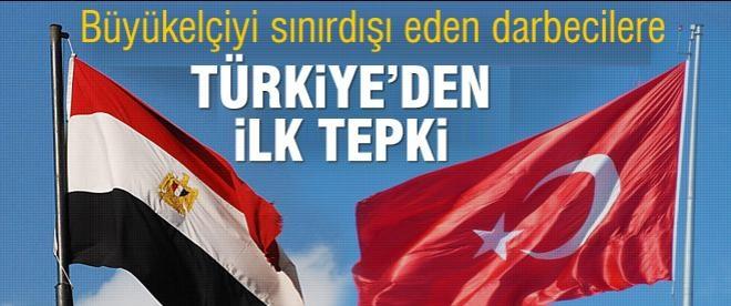 Türkiye'den Mısır'a ilk tepki