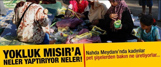 Mısır halkı pet şişeden gaz maskesi yapıyor!
