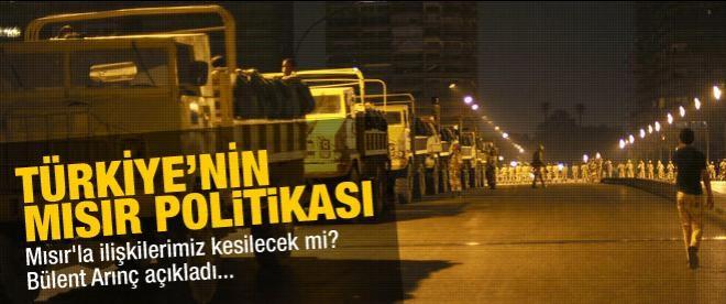 Arınç Türkiye'nin Mısır politikasını açıkladı