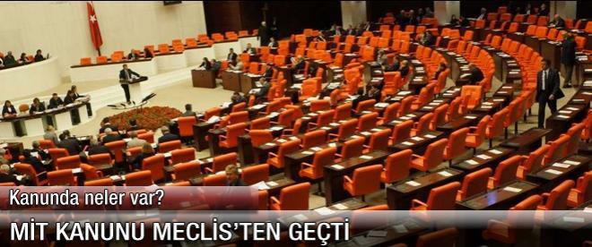 MİT Yasası Meclis'ten geçti