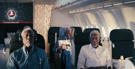 Oscar ödüllü Morgan Freeman THY reklamında