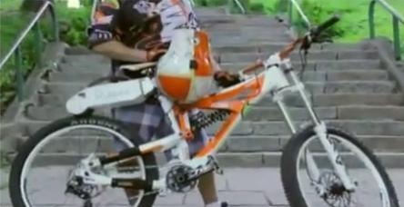 testBir aparatla bisikletinizi motosiklete çevirin