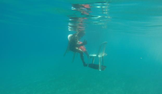 Muğlada deniz dibi temizliği sürüyor