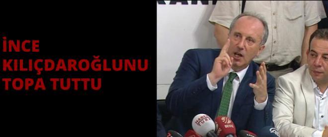 Muharrem İnce Kılıçdaroğlu'nu sert eleştirdi