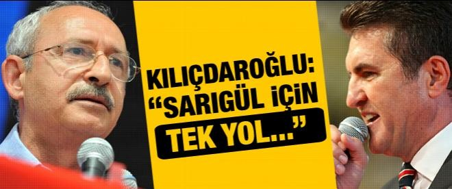 """Kılıçdaroğlu: """"Sarıgül için tek yol üye olması"""""""
