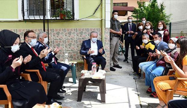 TBMM Başkanı Şentop Tekirdağda şehit ailelerini ziyaret etti