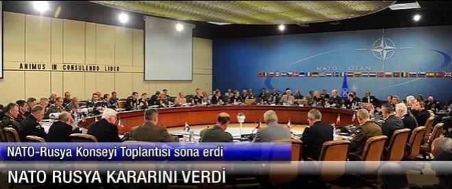 NATO, Rusya kararını verdi