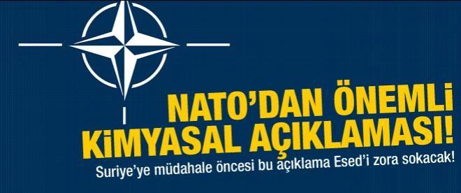 NATO'dan kritik kimyasal açıklaması