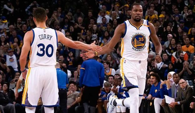 Curry-Durant ikilisi Warriorsı galibiyete taşıdı