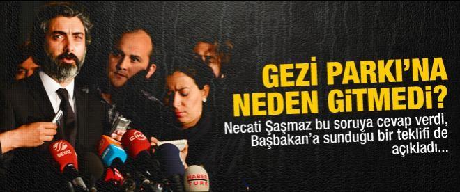 Necati Şaşmaz Gezi Parkı'na neden gitmedi?
