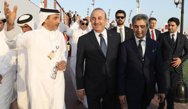 Necati Şaşmaz, Dışişleri Bakanı Çavuşoğlu ile birlikte Katarda