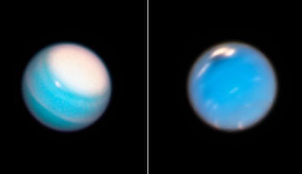 Neptün ve Uranüsteki dev fırtınalar görüntülendi