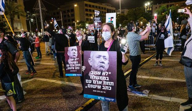 İsrailde Kovid-19a rağmen Netanyahu karşıtı gösteriler sürüyor