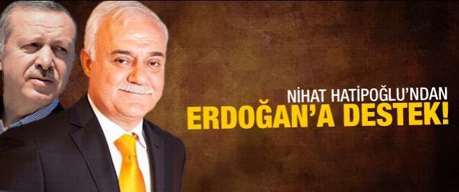 Nihat Hatipoğu'ndan Erdoğan'a destek