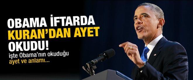 Obama Kuran'dan ayet okudu