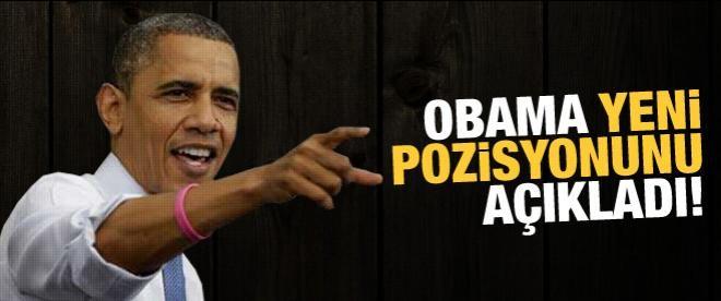 Obama yeni pozisyonunu açıkladı