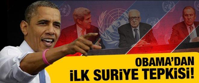 Obama'dan Suriye görüşmesiyle ilgili ilk tepki