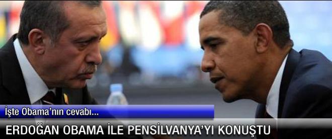 Erdoğan Obama'ya Gülen'i söyledi