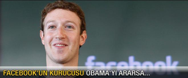 Facebook'un kurucusu Obama'yı ararsa...