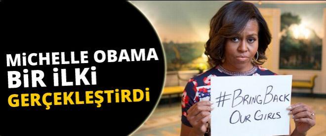 Michelle Obama bir ilki gerçekleştirdi